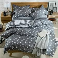 gray and white stars bed pillowcases duvet jpg