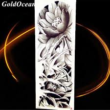 Sexy Summer Style Fish Carp Spray Pencil Sketch Drawing Tamporary Tattoo Arm Art Men Tatoos Boys Sea Waves Legs Tattoo Stickers