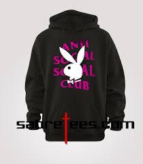 Anti Social Social Club Tee Size Chart Anti Social Social Club Playboy Hoodie
