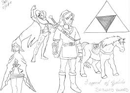 Dessins Coloriage Zelda Imprimer Dessin Link Et Jeux Gratuit