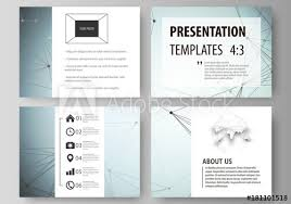 Research Paper Layouts Set Of Business Templates For Presentation Slides Abstract Vector