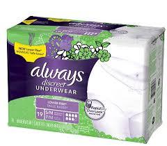 Always Discreet Low Rise Moderate Underwear Hdis