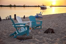 adirondack chairs on beach. South Beach Recycled Plastic Adirondack Chair Polywood Outdoor Furniture Sunset Chairs On 3