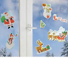 Details Zu Fensterdeko 7x Bunte Weihnachten Weihnachtsdeko Fenster Schneemann Nikolaus