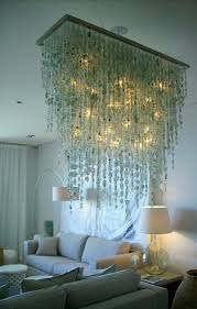 unique recycled glass chandelier