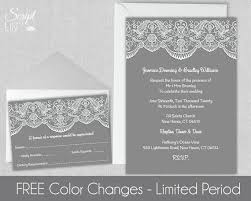 lace wedding invitation template free response card Wedding Card Design Mac lace wedding invitation template free response card instant download easy to edit white grey word or pages pc & mac 5\