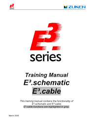 Training Manual E Schematic E Cable This Training Manual