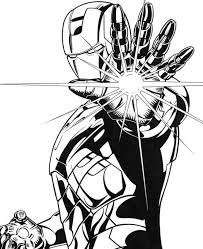 Small Picture Lighting Palm of Iron Man Coloring Page NetArt