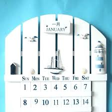 wooden perpetual wall calendar vintage wood custom german