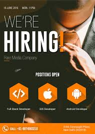 Job Hiring Poster Design Flyer Design For Hiring Hiring Poster Business Poster