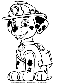 Small Picture Marshall Paw Patrol coloring page
