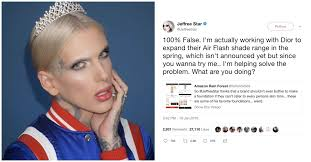 jeffree star claims he s making dior foundations more inclusive vogue