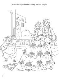 Beauty And The Beast Coloring Page Disney Princess Wedding Pages