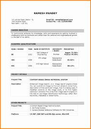 Fair Pdf Resume Format For Freshers For Your 6 Resume Format For