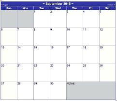 Word Printable Calendar Free Templates 2015