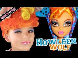 you kittiesmama bratayley howleen wolf monster high doll costume makeup tutorial for cosplay or