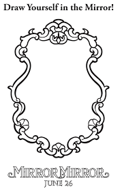 hand held mirror drawing. Hand Held Mirror Drawing. Simple Drawing Snow  White Coloring Page