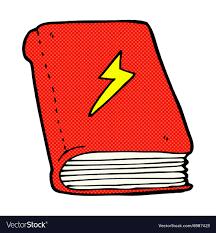 ic cartoon magic spell book vector image