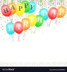 birthday balloons border landscape. Interesting Balloons Happy Birthday Balloons Vector Image With Border Landscape D