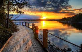sky, the sun, landscape, sunset, nature ...
