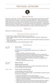 Baptist Youth Pastor Resumes Sample Document Resume