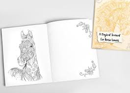 magical journal for horse coloring book