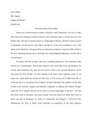 journal entry wife of bath s tale return for saving his  3 pages wife of bath essay