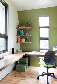 Wall desks home office Floating Wall Computer Table Chair Long Desk Window Wall Shelves Boxes Books Glass Modern Home Office Decohoms Very Cool Wall Computer Table Choices To Pick From Decohoms