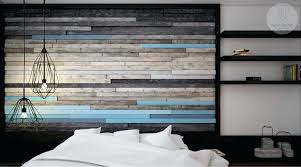 wood accent wall bedroom blue black and grey wood panel rustic accent wall reclaimed wood accent