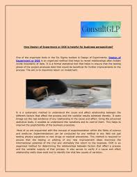 Design Of Experiments Tools How Design Of Experiment Or Doe Is Helpful For Business