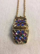 paolo gucci watch new paolo gucci multi color rhinestone crystal watch purse bag gold necklace