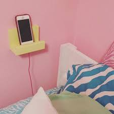 bedside phone stand phone holder wood phone display charging station teen dorm gift idea for her for him phone shelf iphone