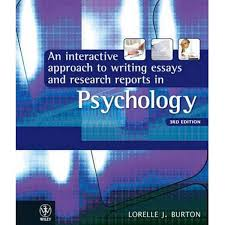 booktopia an interactive approach to writing essays and research  booktopia an interactive approach to writing essays and research reports in psychology 3rd edition by lorelle jane burton 9781742166490