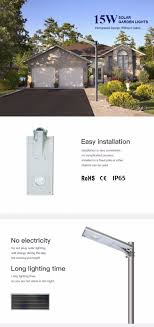 Solar Lighting System Design Konetiki 15w Solar Garden Light Integrated Design Without