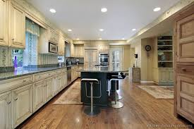 Antique White Kitchen Dark Floors decorating clear