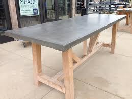 custom concrete outdoor tabletops