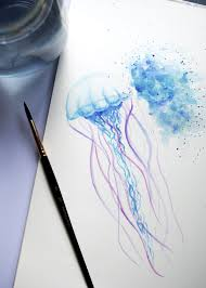 Image Result For Watercolour Jellyfish Tattoo акварель Disegni
