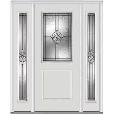 white entry doors with sidelights. MMI DOOR Half Lite Decorative Glass Right-Hand Inswing Primed Fiberglass Prehung Entry Door With White Doors Sidelights A