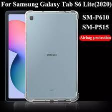 Ốp Lưng Máy Tính Bảng Dành Cho Samsung Galaxy Samsung Galaxy Tab S6 Lite  2020 Silicone Mềm TPU Túi Khí Trong Suốt Túi Bảo Vệ Cho SM P610/P615|Tablets  & e-Books Case