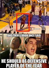 "NBA Memes on Twitter: ""LeBron James' Defensive Ways! #Cavs http ... via Relatably.com"