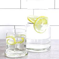 bedside water carafe set 2 piece personalized glass cara