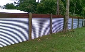 metal fence ideas corrugated iron fence wood framed corrugated metal fence plans