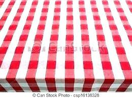 checke red gingham tablecloth round 60