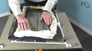 whirlpool oven repair how to replace the inner door glass