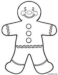 Gingerbread Man Coloring Pages Printable 9 2482