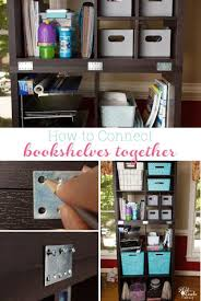 great diy showing how to connect freestanding bookshelves or storage cubes together perfect ikea