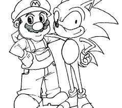 Sonic The Hedgehog Coloring Pages Sonic The Hedgehog Free Coloring