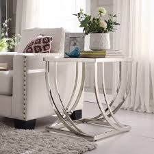 Anson Steel Brushed Arch Curved Sculptural Modern End Table by iNSPIRE Q  Bold - Free Shipping Today - Overstock.com - 14944451
