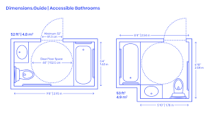 Handicap Bathroom Layout Design Accessible Residential Bathrooms Dimensions Drawings