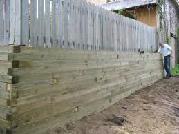 Small Picture Modern wood retaining wall dark gray stain For the Home